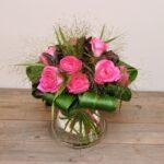 Rozenboeket roze